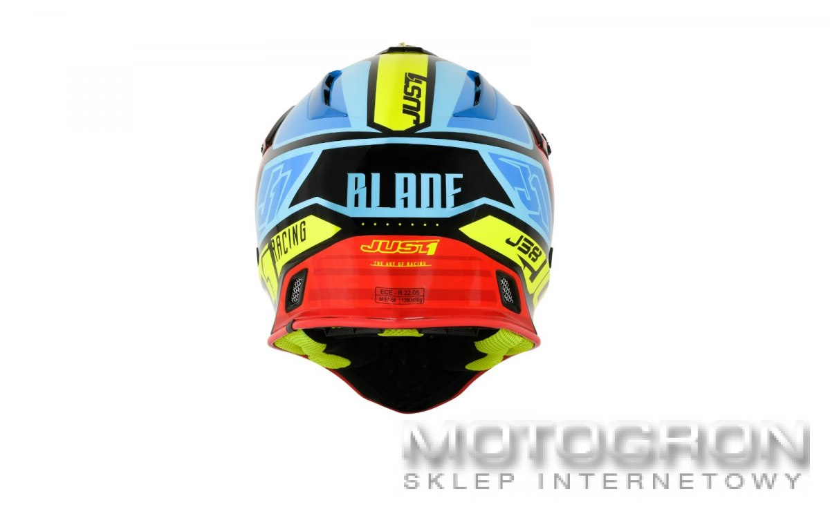 Kask JUST1 J38 BLADE Red-Blue-Yellow-Black L